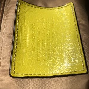 Coach Bags - Coach Crossbody chartreuse messenger style bag